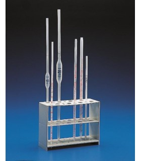 STAND PIPETTE VERTICAL PP, 16 PL, 200x75, 150mm H